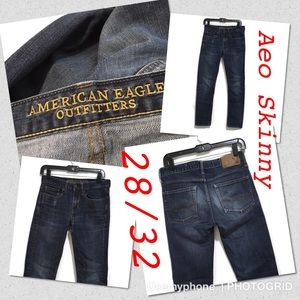 American Eagle skinny men jeans size 28/32 blue